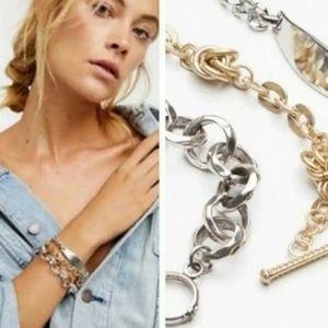 Free People Heavy Metals Bracelet Set